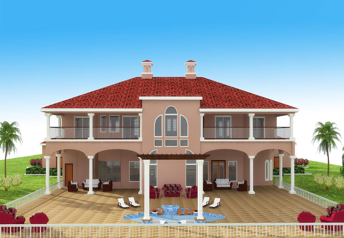 Mediterranean House Front Elevation : Mediterranean budron homes