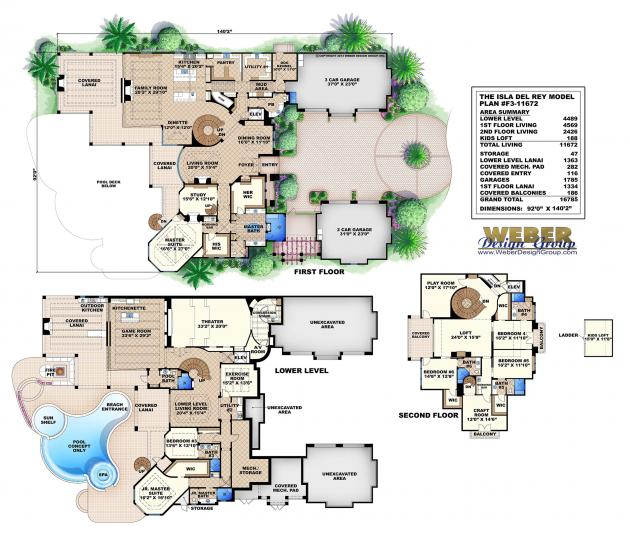 Isla del rey budron homes Tuscan home floor plans