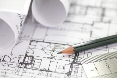 Photo of blueprints