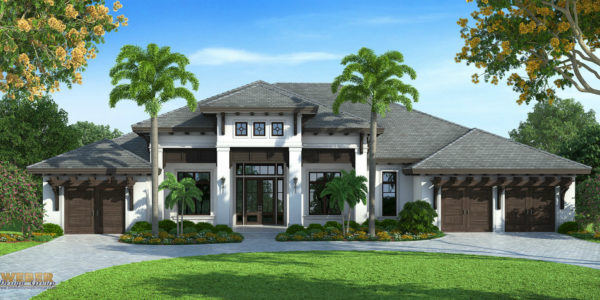 Abacoa custom home front elevation