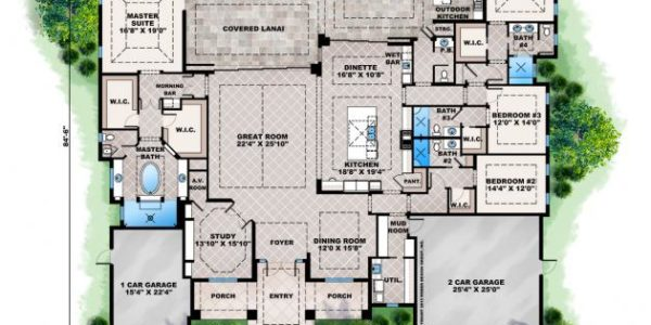 Abacoa custom home model plan