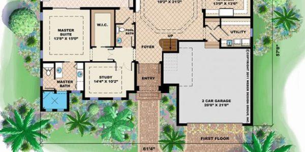 Callaloo custom home floor plan