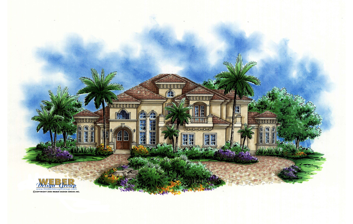 La Playa IV custom home front elevation