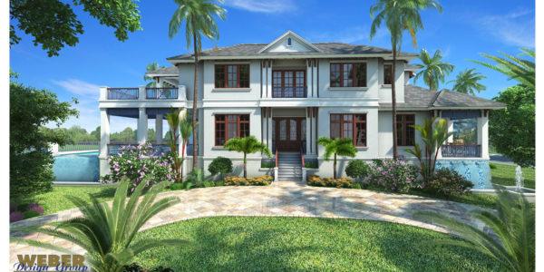 Mandevilla custom home front elevation