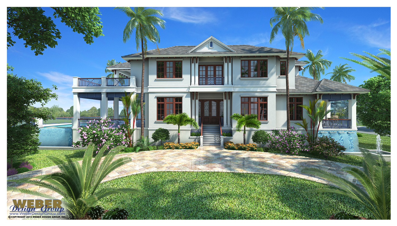 Mandevilla custom home front elevation