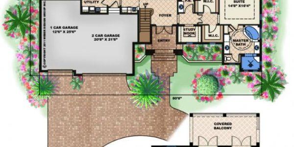 Mustique custom home model plan