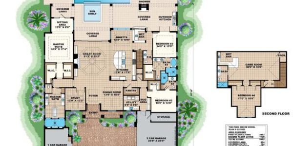 Park Shore custom home model plan