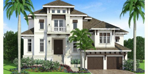 San Souci custom home front elevation