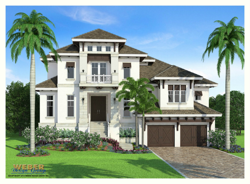 San Souci custom home front elevation