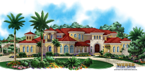 Villagio Toscana custom home front elevation