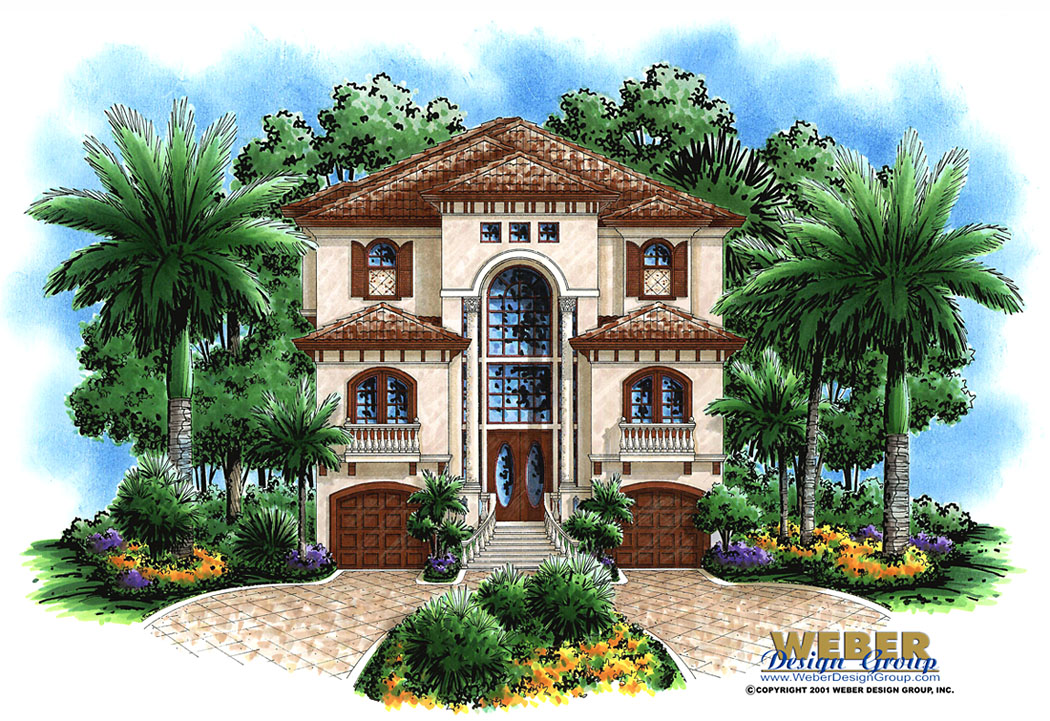 Ashley custom home front elevation