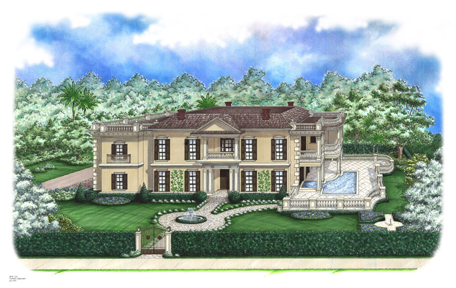 Ashton custom home front elevation