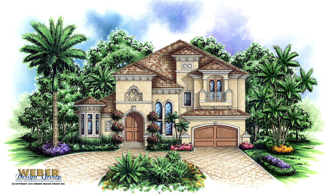 Aurora IV custom home front elevation