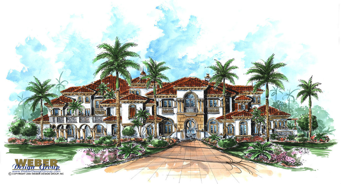 Bellagio custom home front elevation