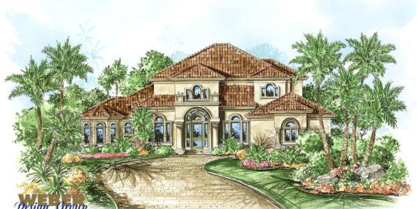 Bradley custom home front elevation