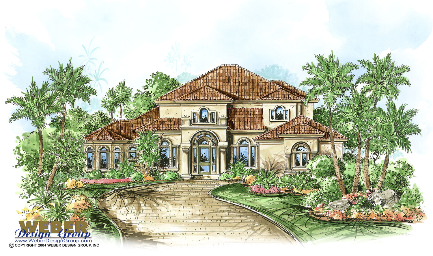 Bradley custom home front elevation