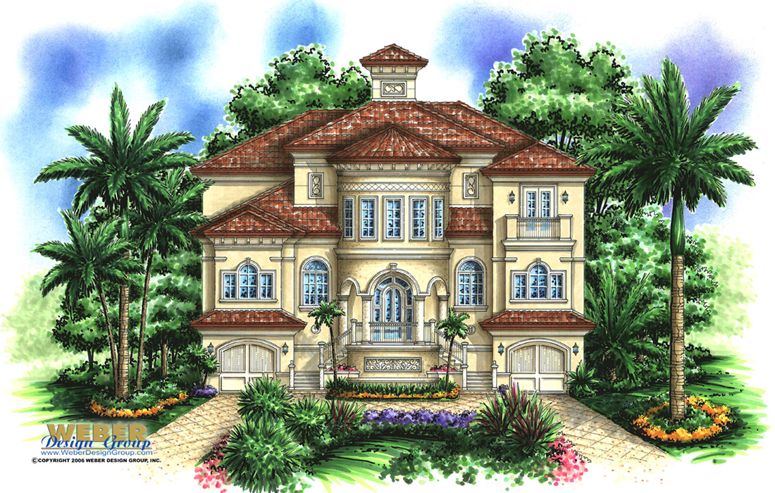 Case Bella custom home frontelevation