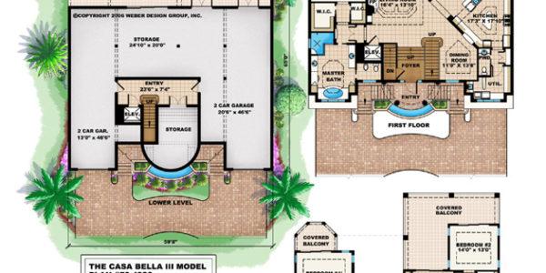 Casa Bella custom home model plan