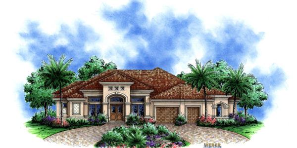 Kensington custom home front elevation