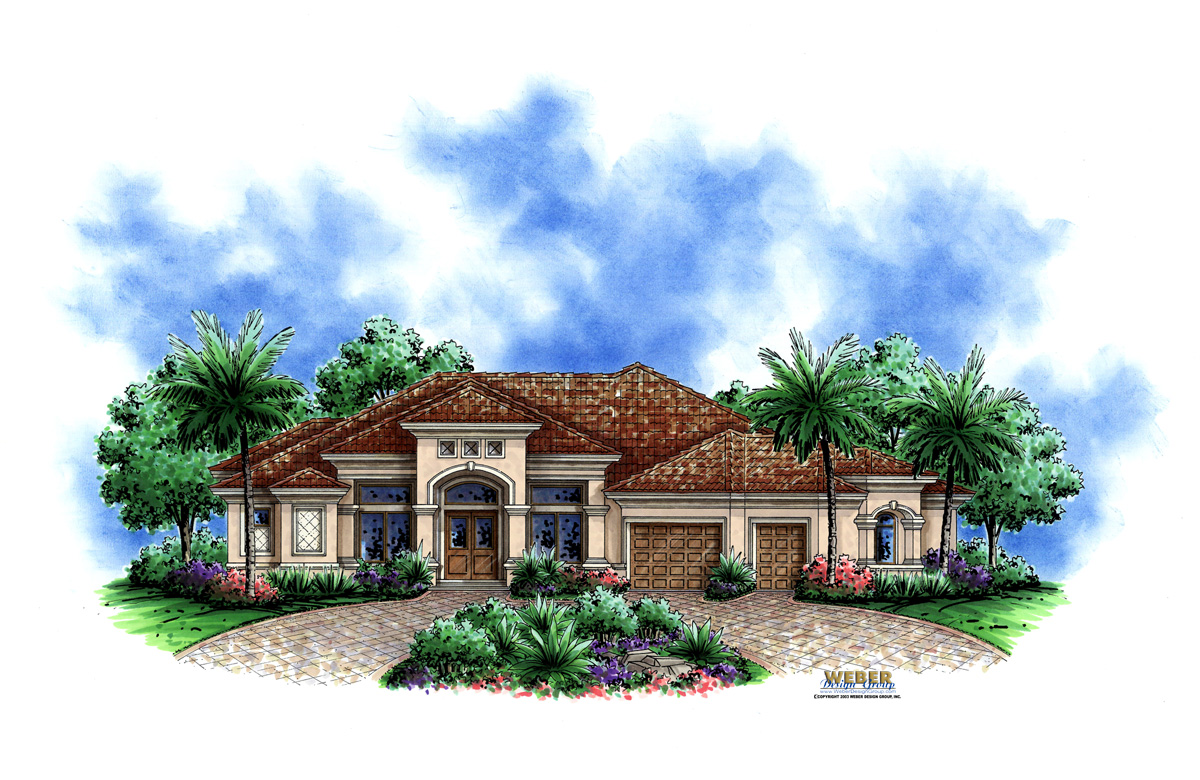 Kensington custom home front elevation