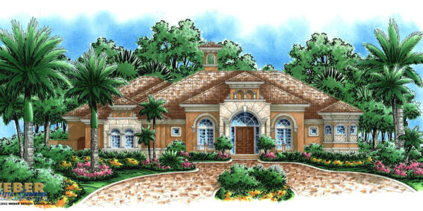 Mt Vernon custom home front elevation