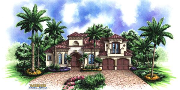 Murano II custom home front elevation