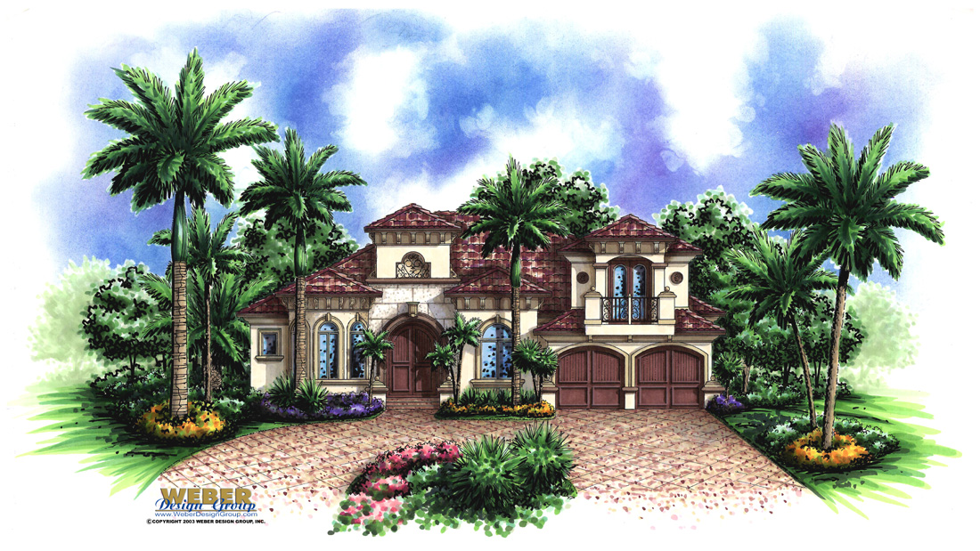 Murano II custom home front elevation