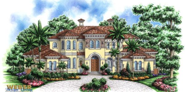 Tuscany II custom home front elevation