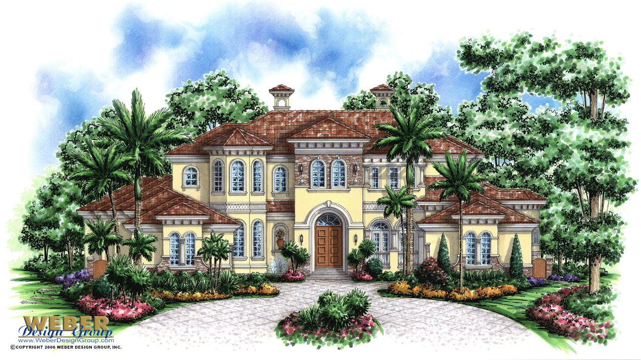 Tuscany II custom home front elevation