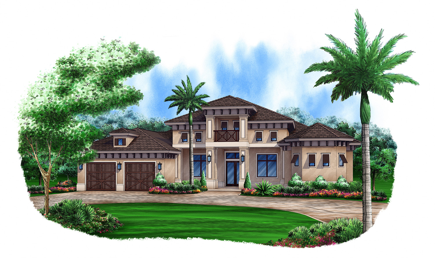 Anna II custom home front elevation