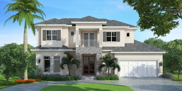 Casoria custom home front elevation
