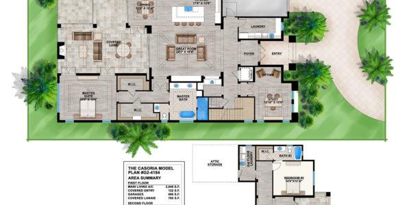 Casoria custom home model plan
