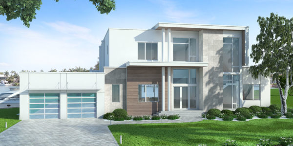 Leggero custom home front elevation