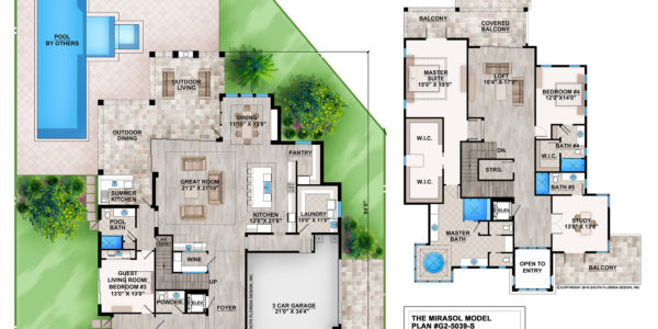 Mirasol custom home model plan