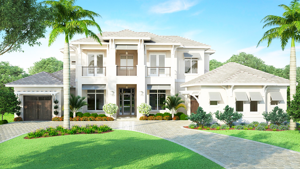 Spacious florida house plan with rec room budron homes for Spacious house plans
