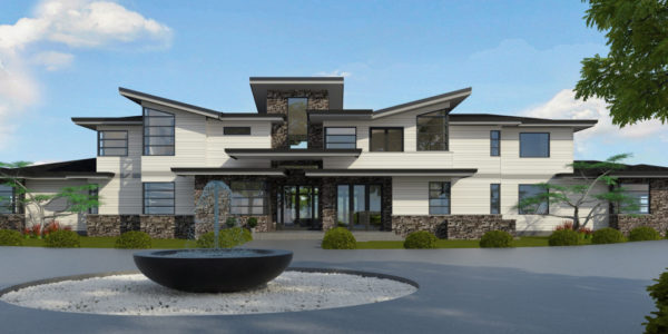 Modern masterpeice front elevation