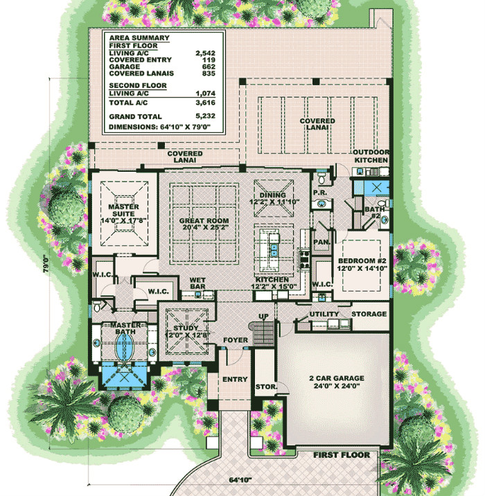 Florida house plan with game room and loft budron homes for House plans with game room