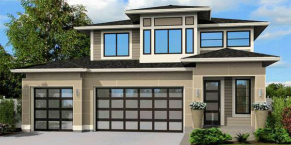 Contemporary Home - Front rendering