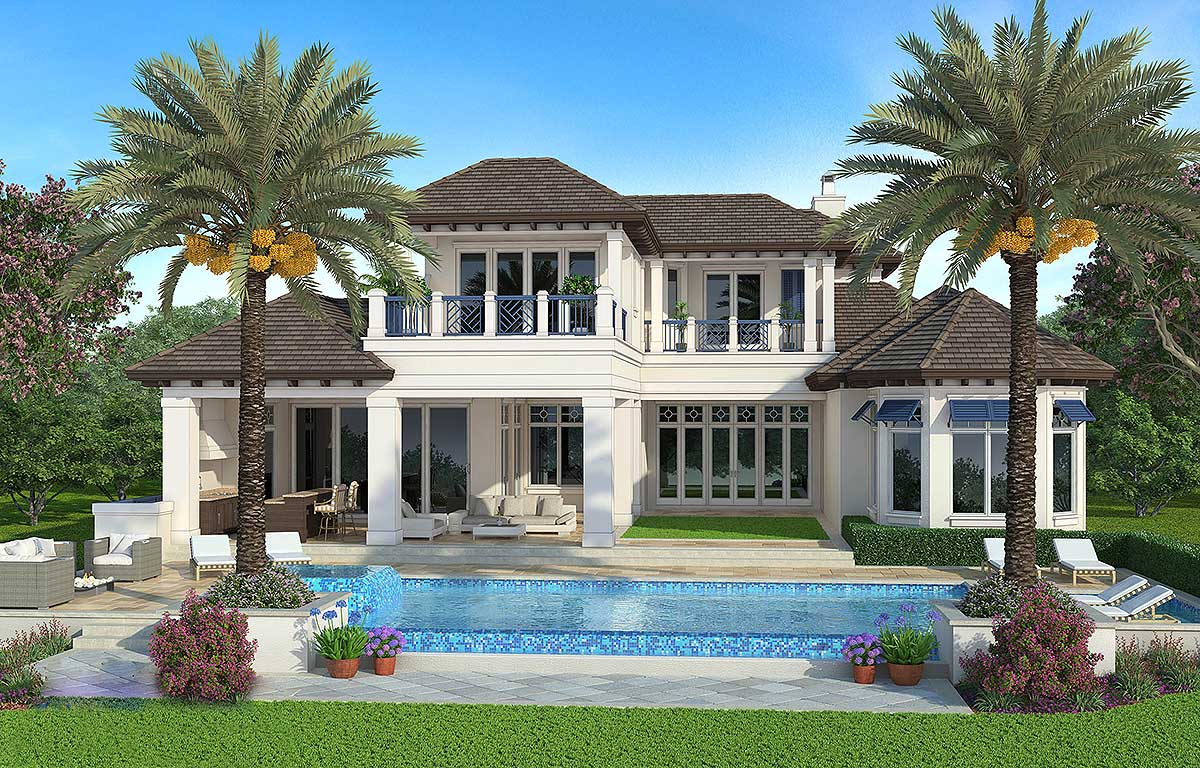 Top The Line Florida House Plan Budron Homes